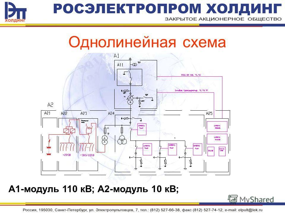 Однолинейная схема А1-модуль