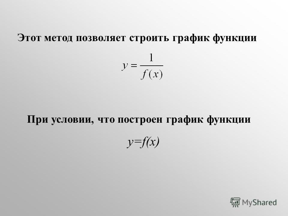 Этот метод позволяет строить график функции При условии, что построен график функции у=f(x)