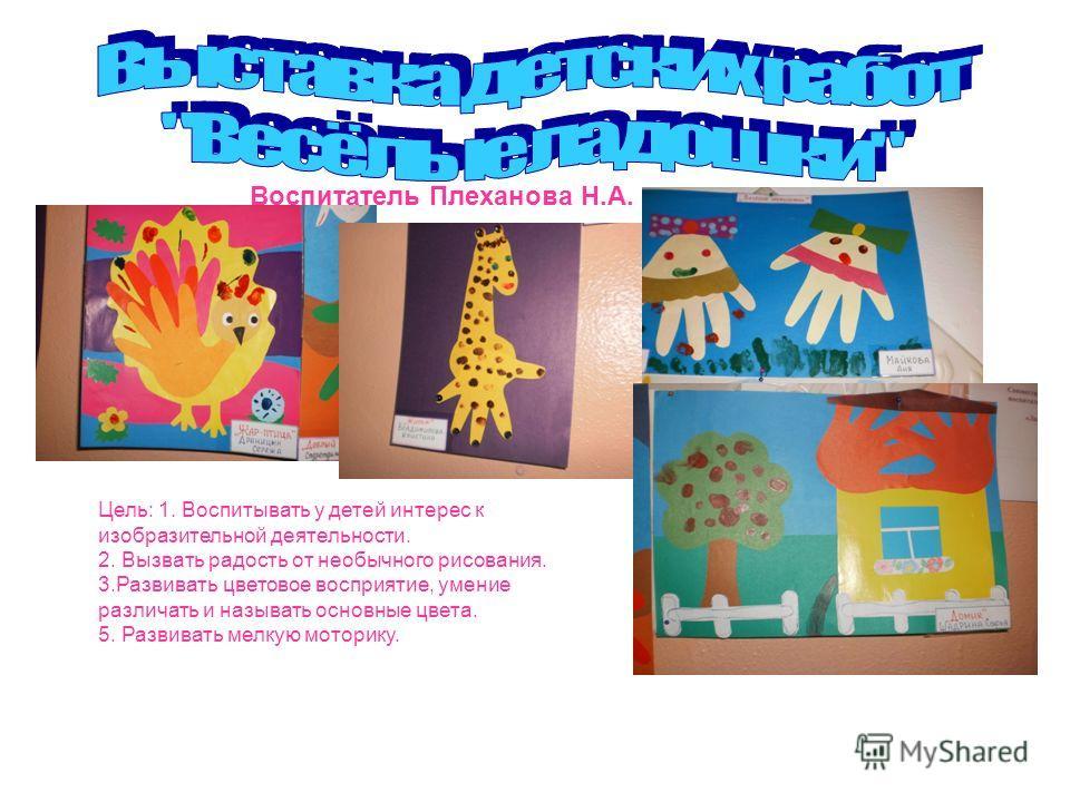 Воспитатель Плеханова Н.А. Цель: 1. Воспитывать у детей интерес к изобразительной деятельности. 2. Вызвать радость от необычного рисования. 3.Развивать цветовое восприятие, умение различать и называть основные цвета. 5. Развивать мелкую моторику.