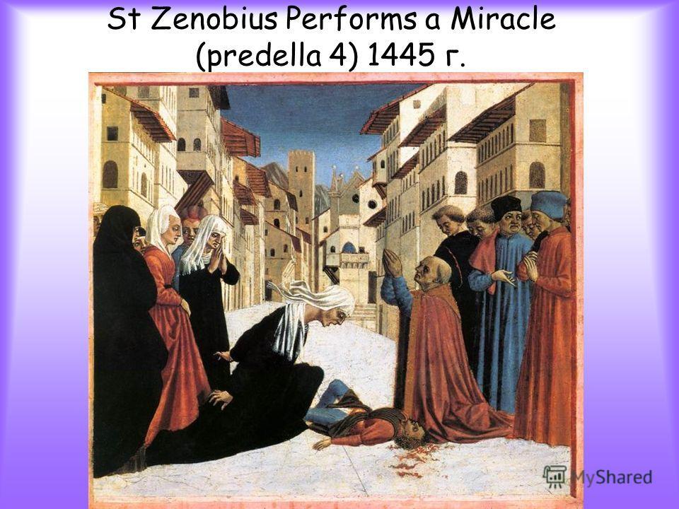 St Zenobius Performs a Miracle (predella 4) 1445 г.