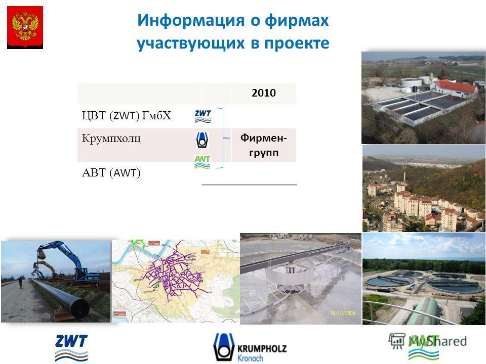 2010 ЦВТ ( ZWT ) ГмбХ Крумпхолц Фирмен- групп АВТ ( AWT ) Информация о фирмах участвующих в проекте