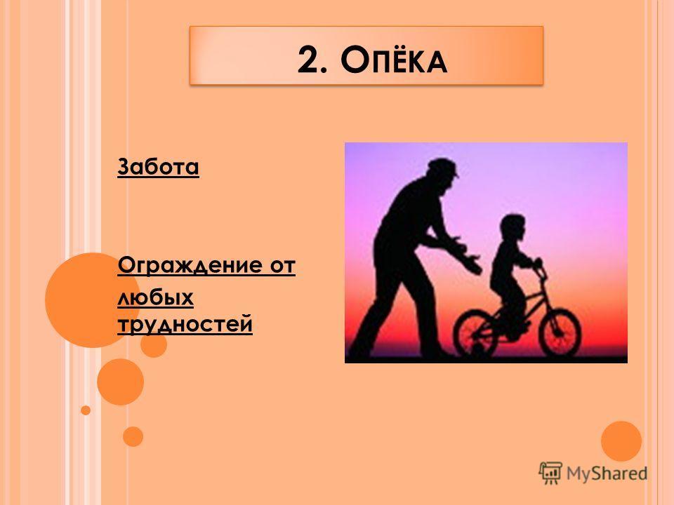 2. О ПЁКА Забота Ограждение от любых трудностей