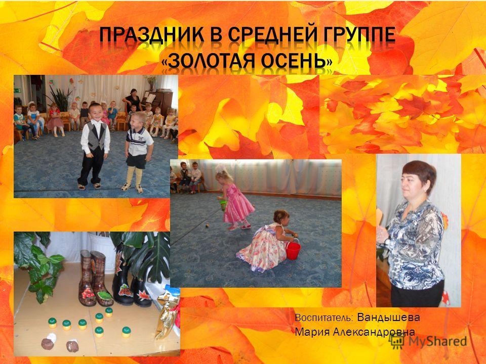 Воспитатель: Вандышева Мария Александровна
