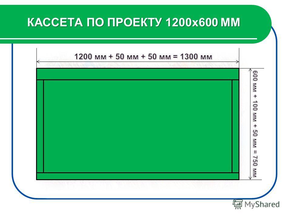 КАССЕТА ПО ПРОЕКТУ 1200х600 ММ