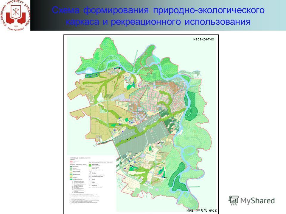 Схема формирования природно-экологического каркаса и рекреационного использования несекретно Инв. 878 н/с к