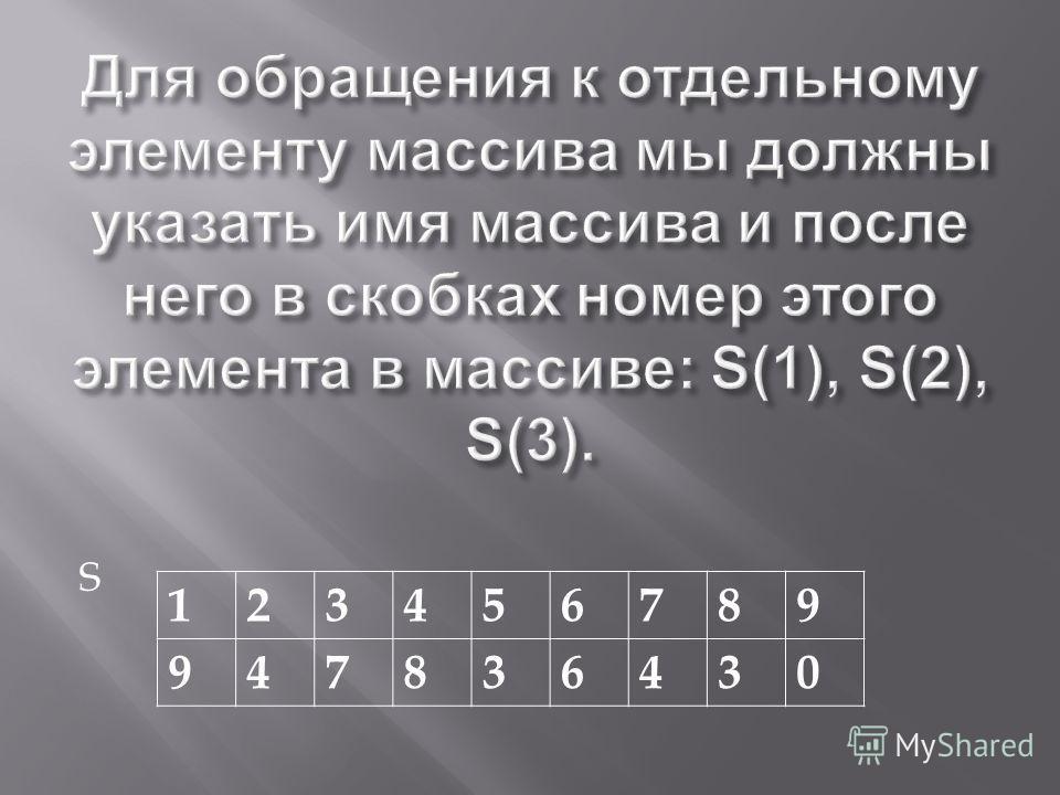 S 123456789 947836430