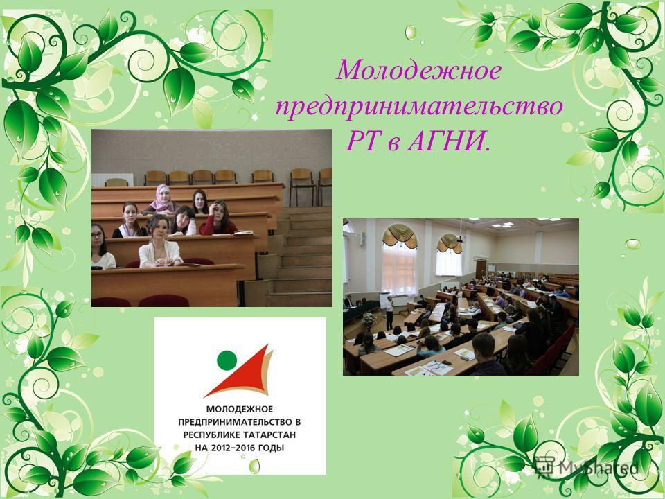 Молодежное предпринимательство РТ в АГНИ.