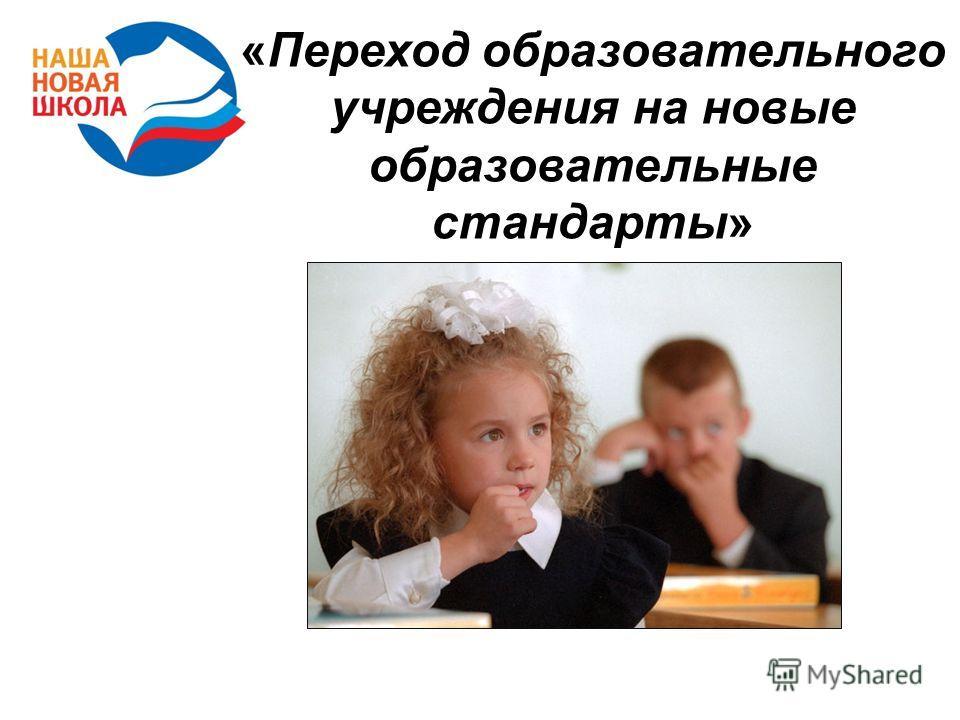 «Переход образовательного учреждения на новые образовательные стандарты»
