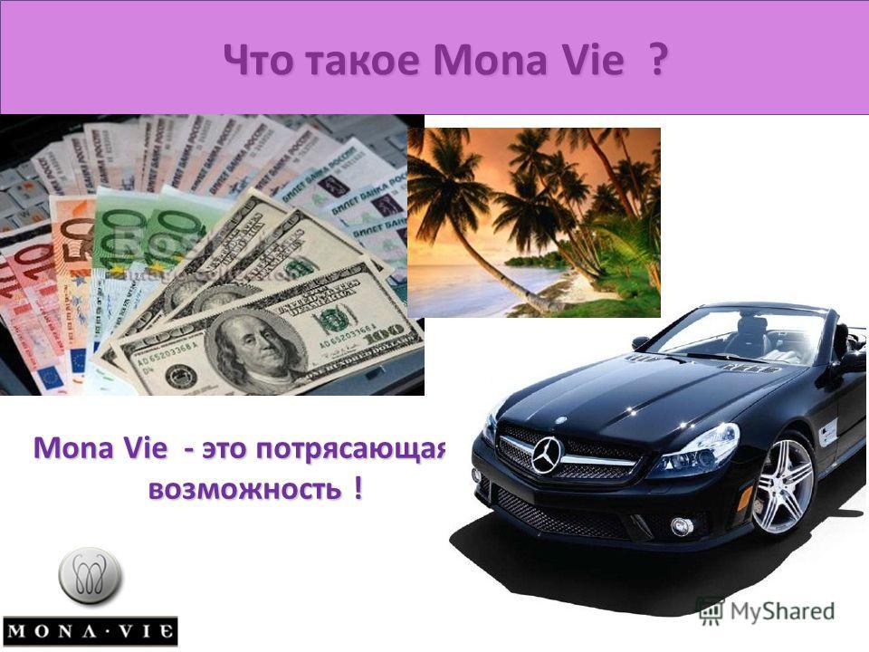 Что такое Mona Vie ? Mona Vie - это потрясающая возможность ! возможность !