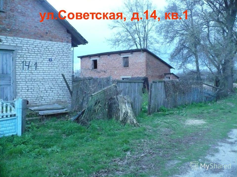 ул.Советская, д.14, кв.1