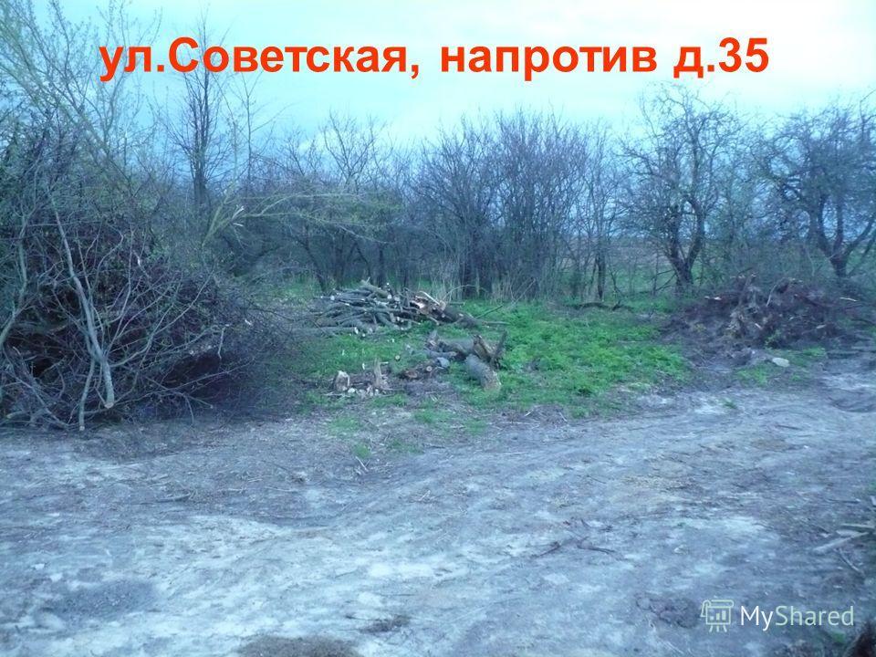 ул.Советская, напротив д.35