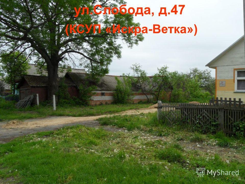 ул.Слобода, д.47 (КСУП «Искра-Ветка»)