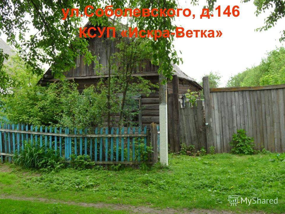 ул.Соболевского, д.146 КСУП «Искра-Ветка»