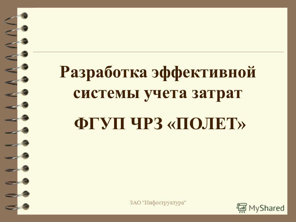 ЗАО Инфоструктура Разработка эффективной системы учета затрат ФГУП ЧРЗ «ПОЛЕТ»