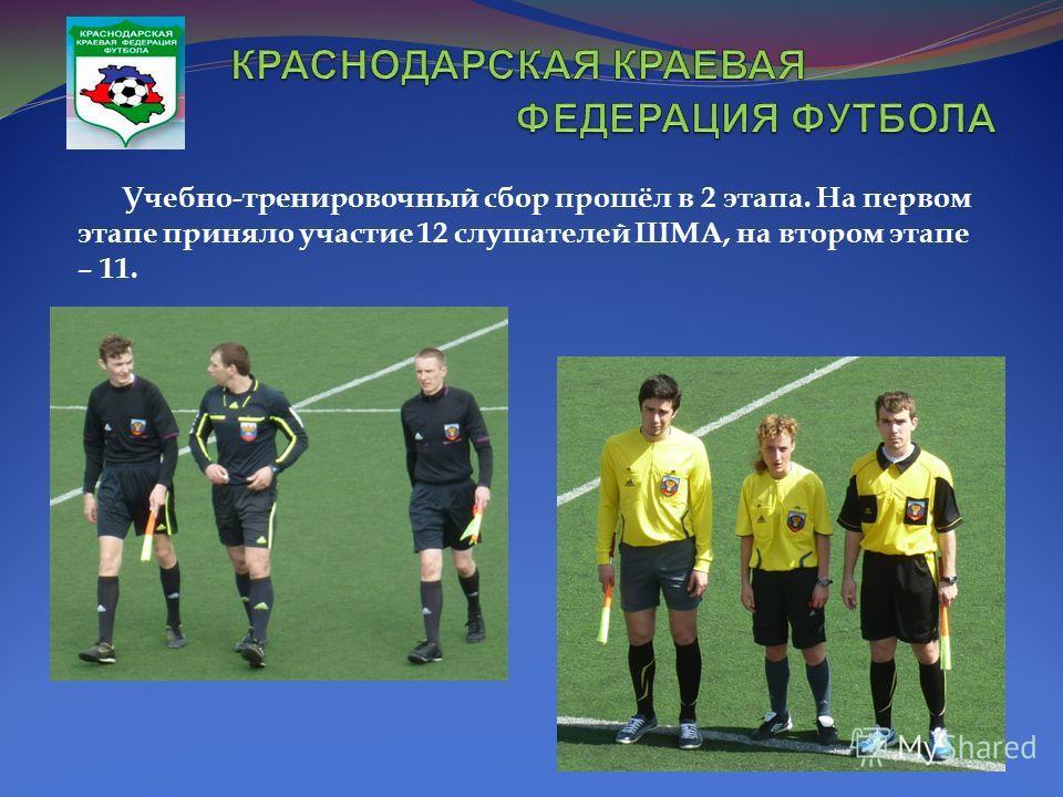 Учебно-тренировочный сбор прошёл в 2 этапа. На первом этапе приняло участие 12 слушателей ШМА, на втором этапе – 11.