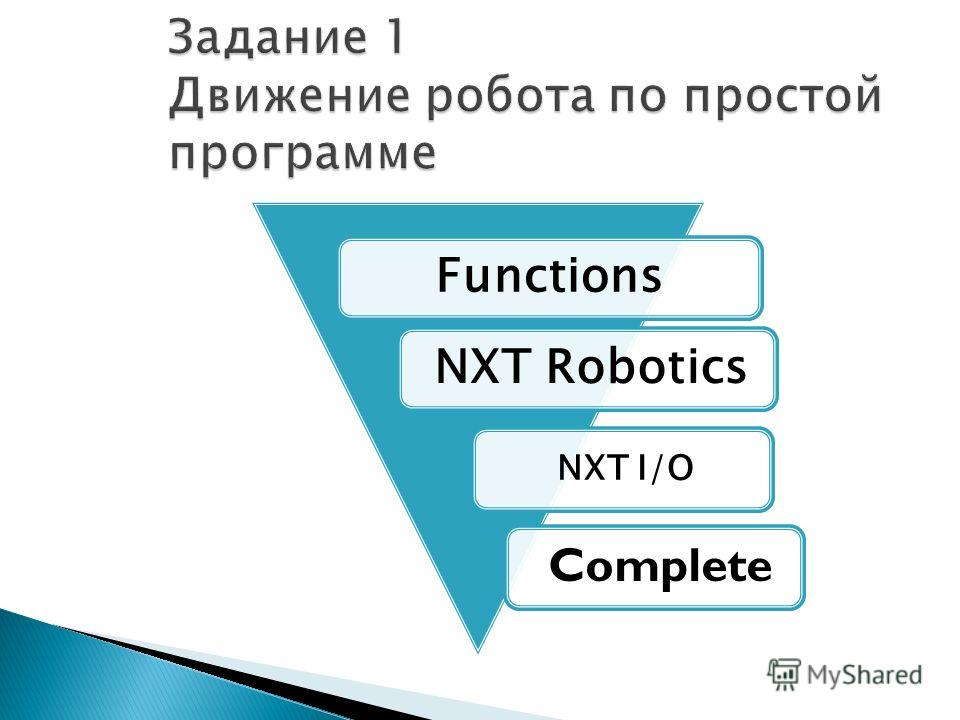 Functions NXT Robotics NXT I/O Complete