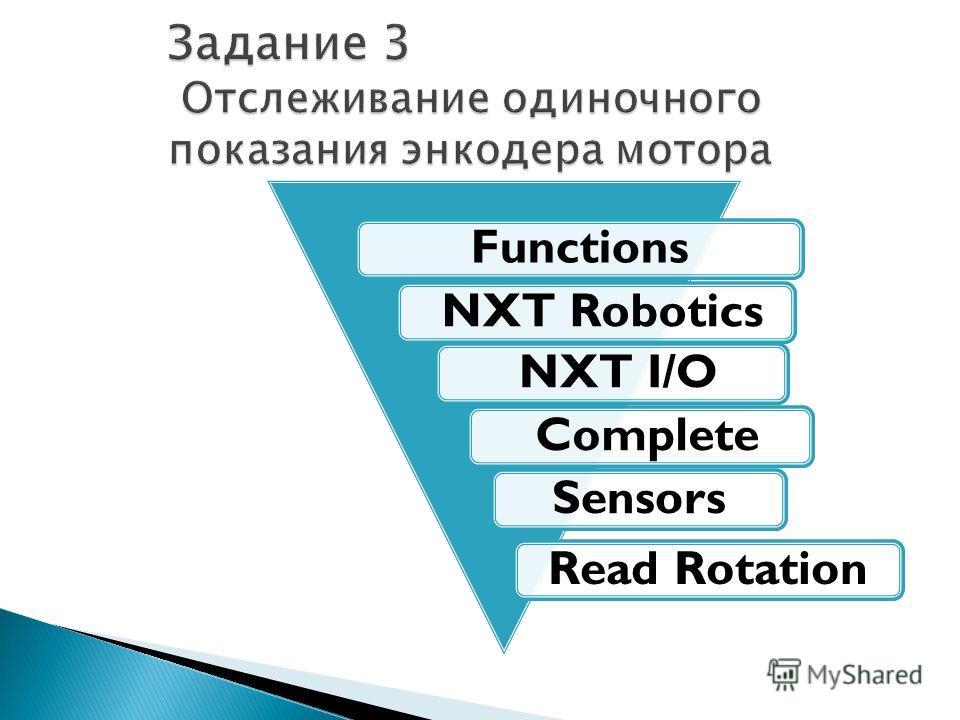 Functions NXT Robotics NXT I/O CompleteSensorsRead Rotation