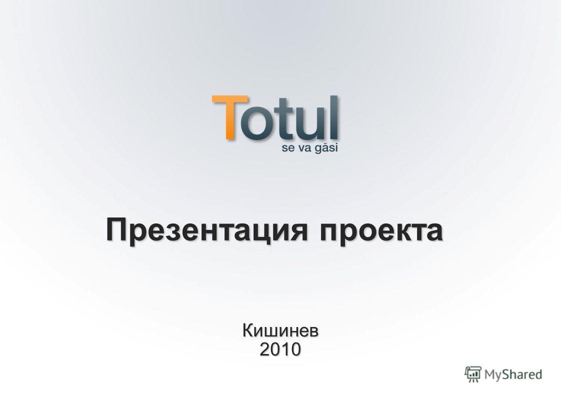 Кишинев 2010 Презентация проекта