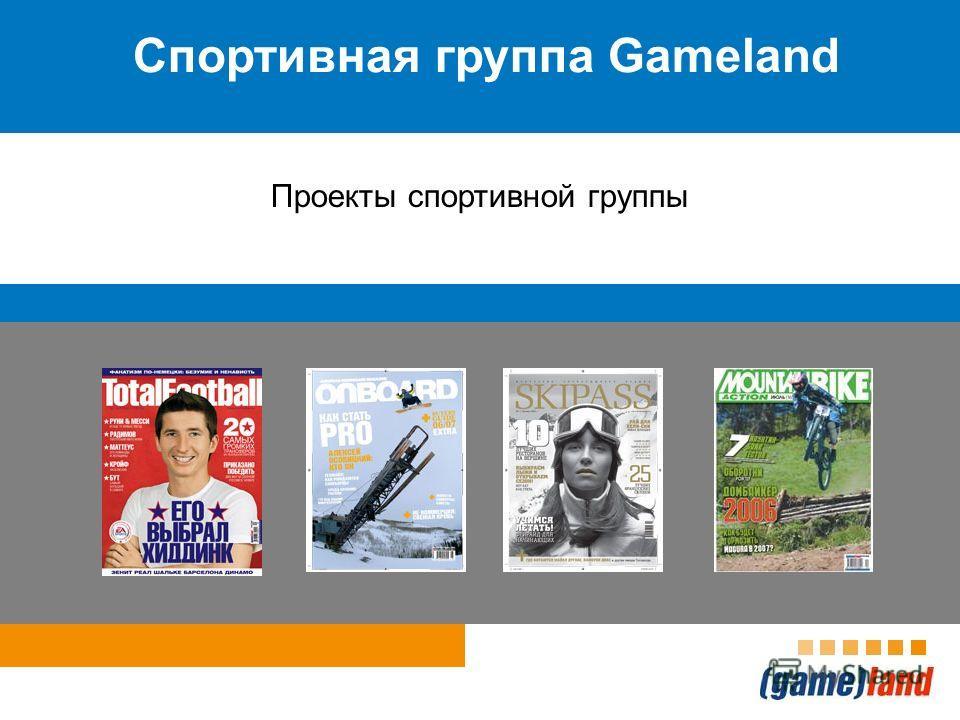 Спортивная группа Gameland Проекты спортивной группы