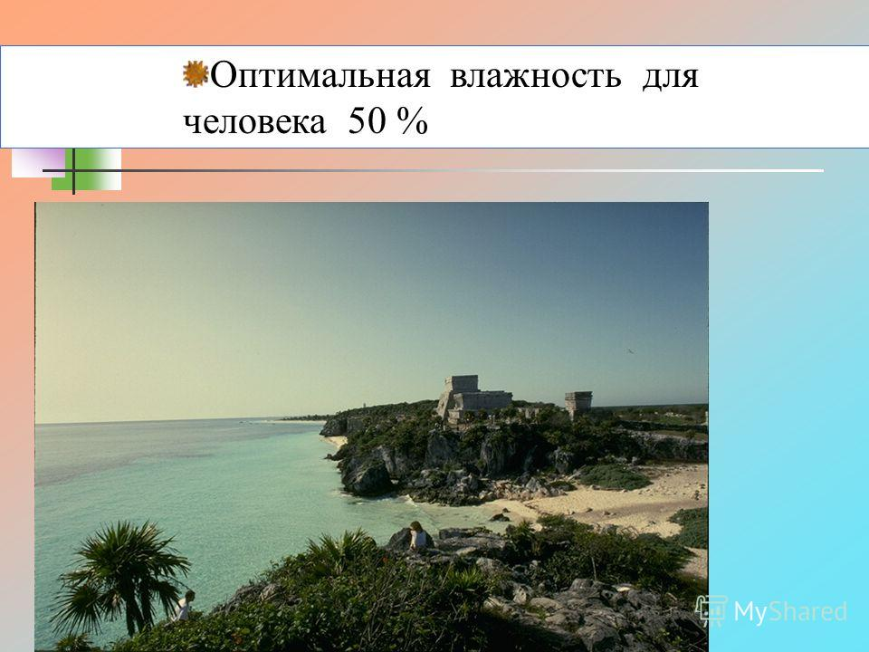 Оптимальная влажность для человека 50 %