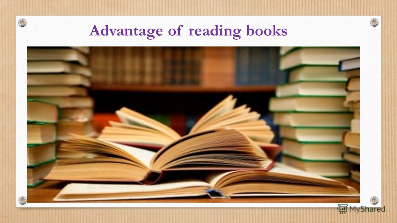 Advantage of reading books