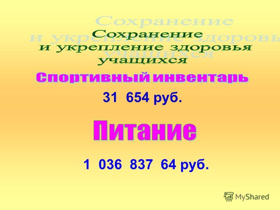 31 654 руб. 1 036 837 64 руб.