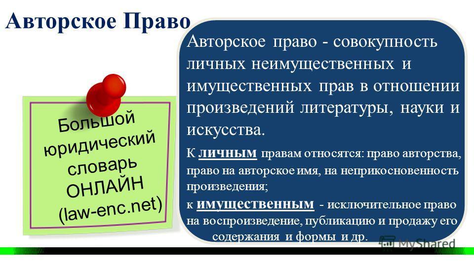Авторское право Определение. Знак защиты. Public domain