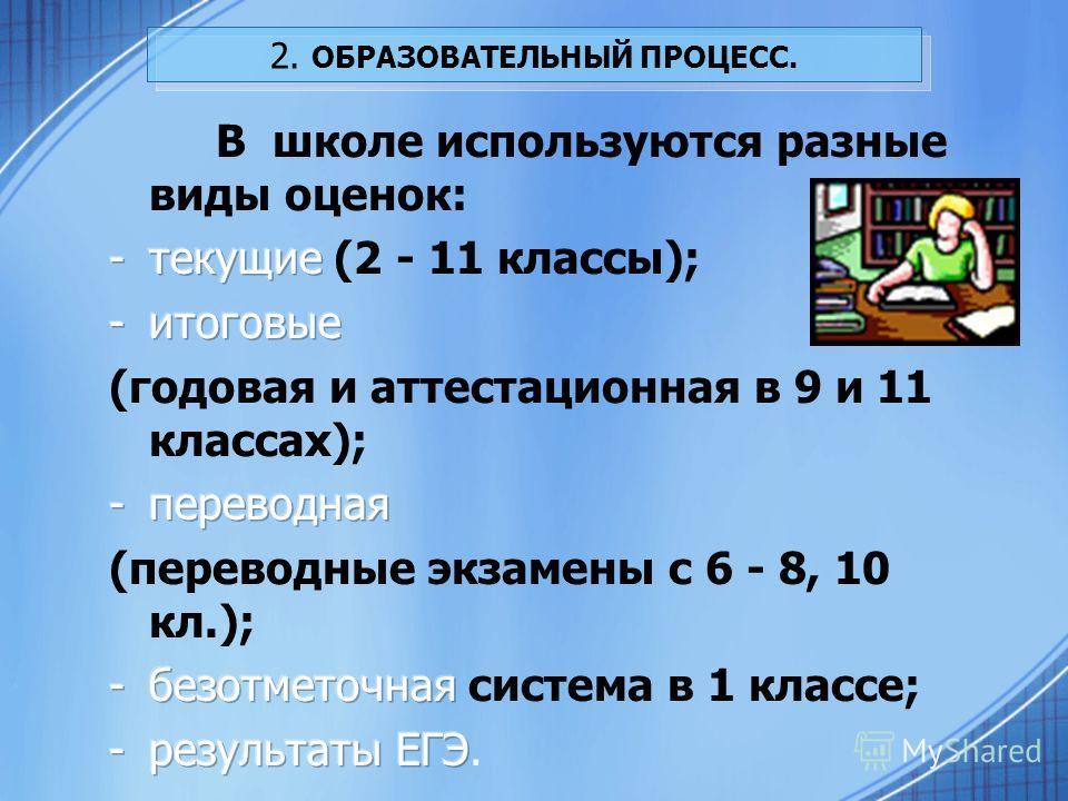2. ОБРАЗОВАТЕЛЬНЫЙ ПРОЦЕСС.