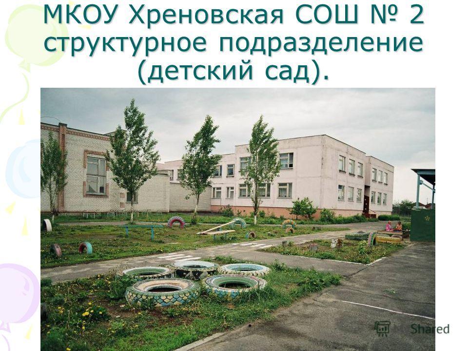 МКОУ Хреновская СОШ 2 структурное подразделение (детский сад).