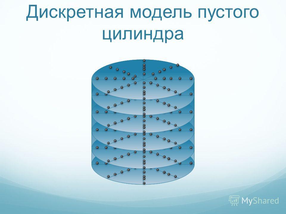 Дискретная модель пустого цилиндра