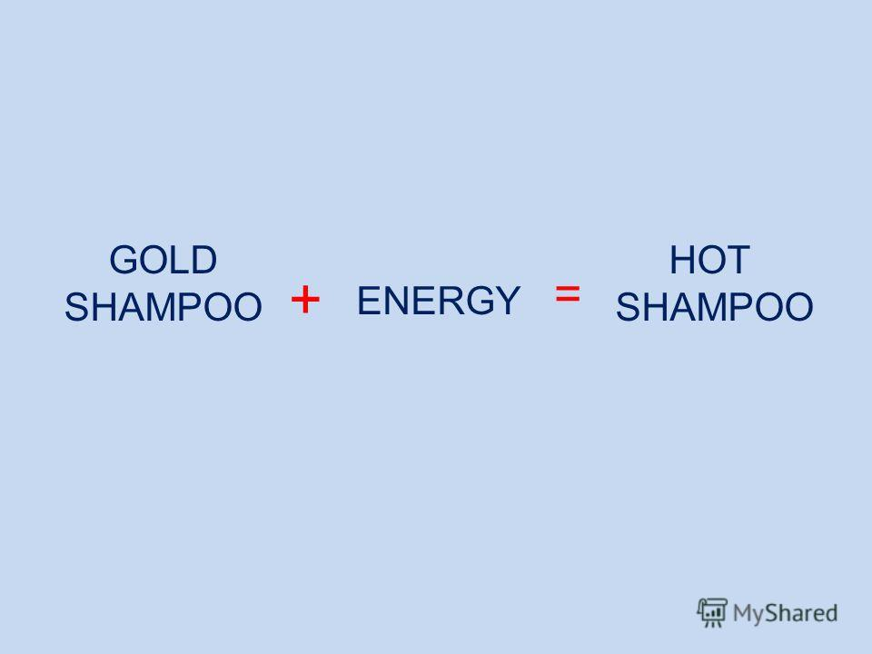HOT SHAMPOO ENERGY GOLD SHAMPOO + =
