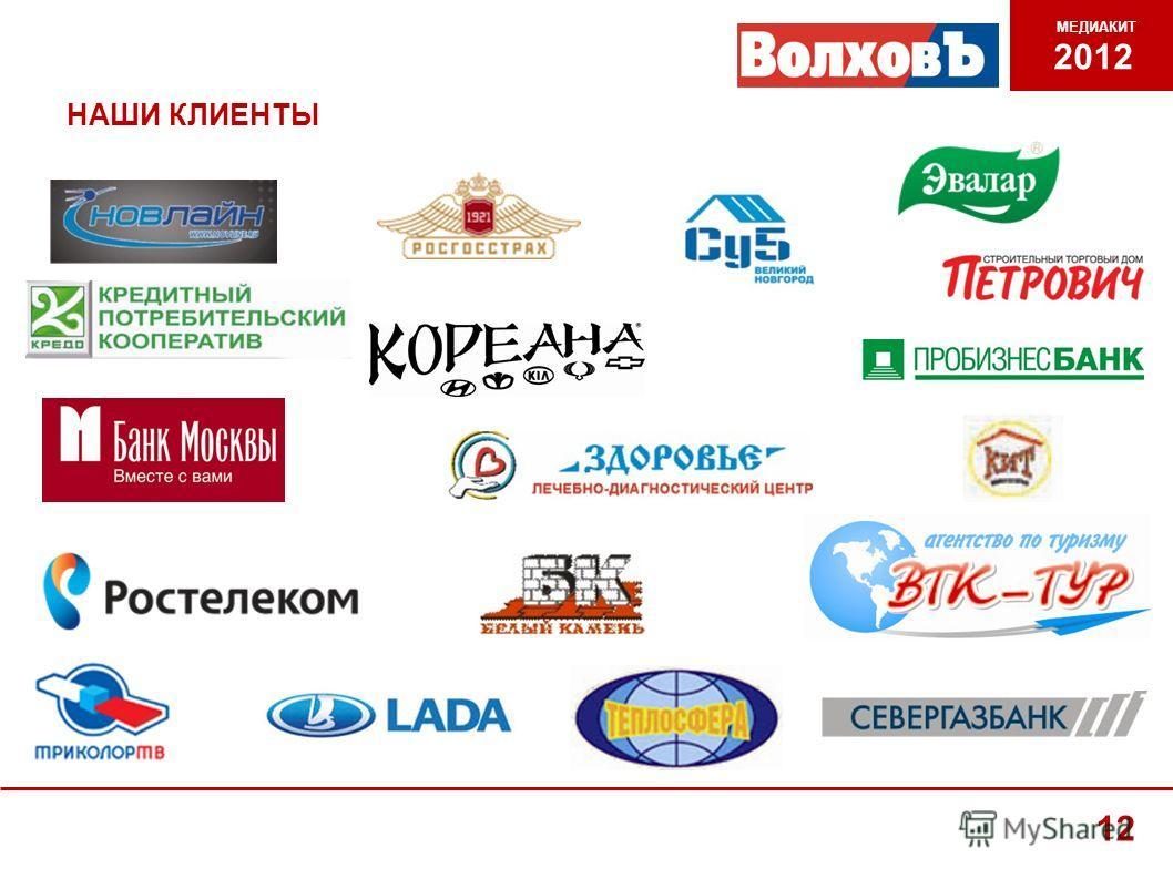 НАШИ КЛИЕНТЫ МЕДИАКИТ 2012 12