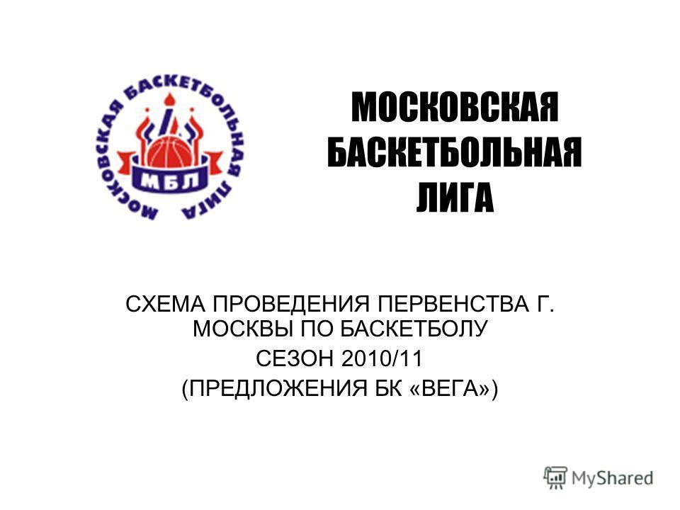 МОСКОВСКАЯ БАСКЕТБОЛЬНАЯ ЛИГА СХЕМА ПРОВЕДЕНИЯ ПЕРВЕНСТВА Г. МОСКВЫ ПО БАСКЕТБОЛУ СЕЗОН 2010/11 (ПРЕДЛОЖЕНИЯ БК «ВЕГА»)