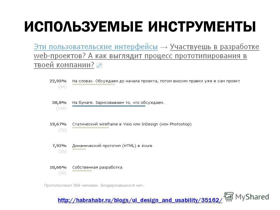 ИСПОЛЬЗУЕМЫЕ ИНСТРУМЕНТЫ http://habrahabr.ru/blogs/ui_design_and_usability/35162/