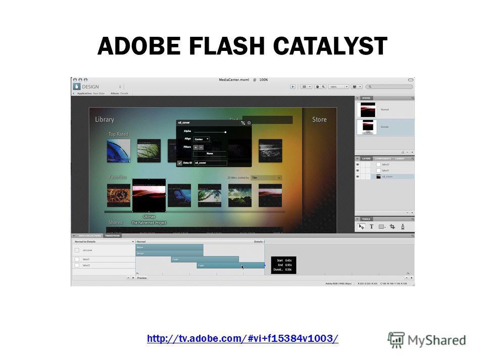 ADOBE FLASH CATALYST Среда http://tv.adobe.com/#vi+f15384v1003/