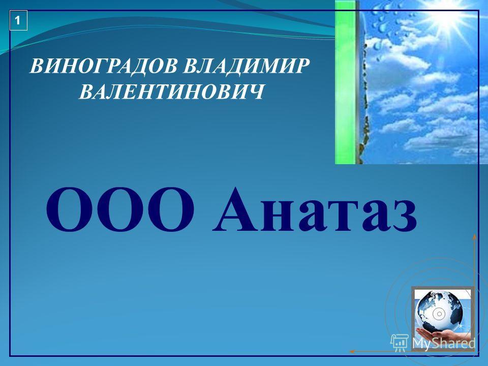 ВИНОГРАДОВ ВЛАДИМИР ВАЛЕНТИНОВИЧ ООО Анатаз 1