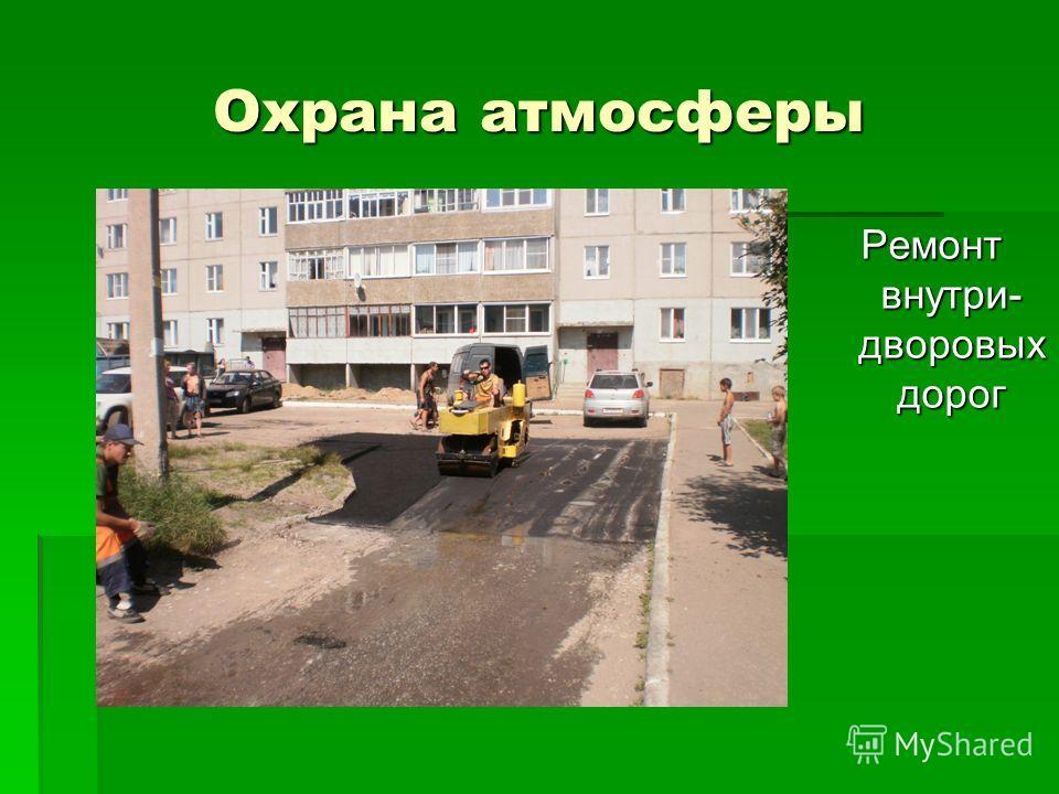 Охрана атмосферы Ремонт внутри- дворовых дорог