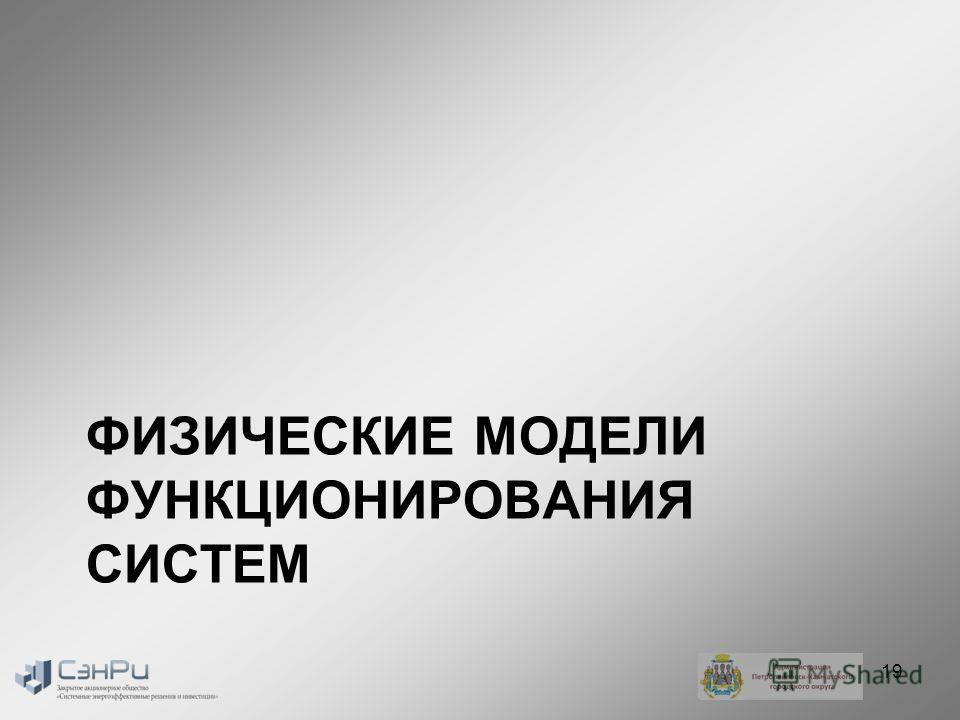 ФИЗИЧЕСКИЕ МОДЕЛИ ФУНКЦИОНИРОВАНИЯ СИСТЕМ 19