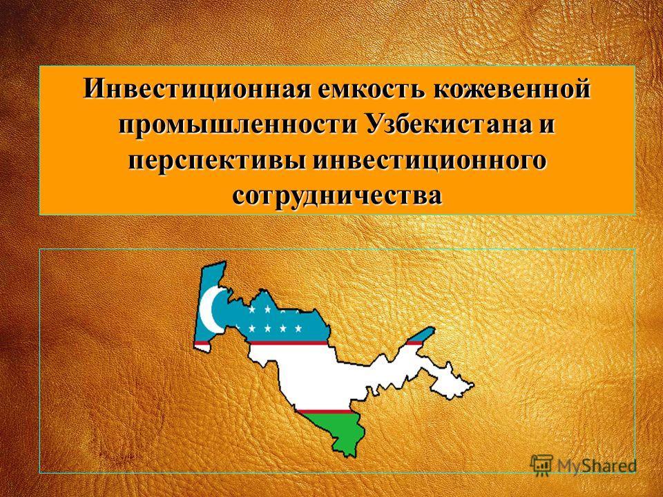 Инвестиционная емкость кожевенной промышленности Узбекистана и перспективы инвестиционного сотрудничества