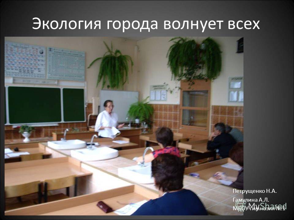 Экология города волнует всех Петрущенко Н.А. Гамулина А.Л. МБОУ гимназия 1