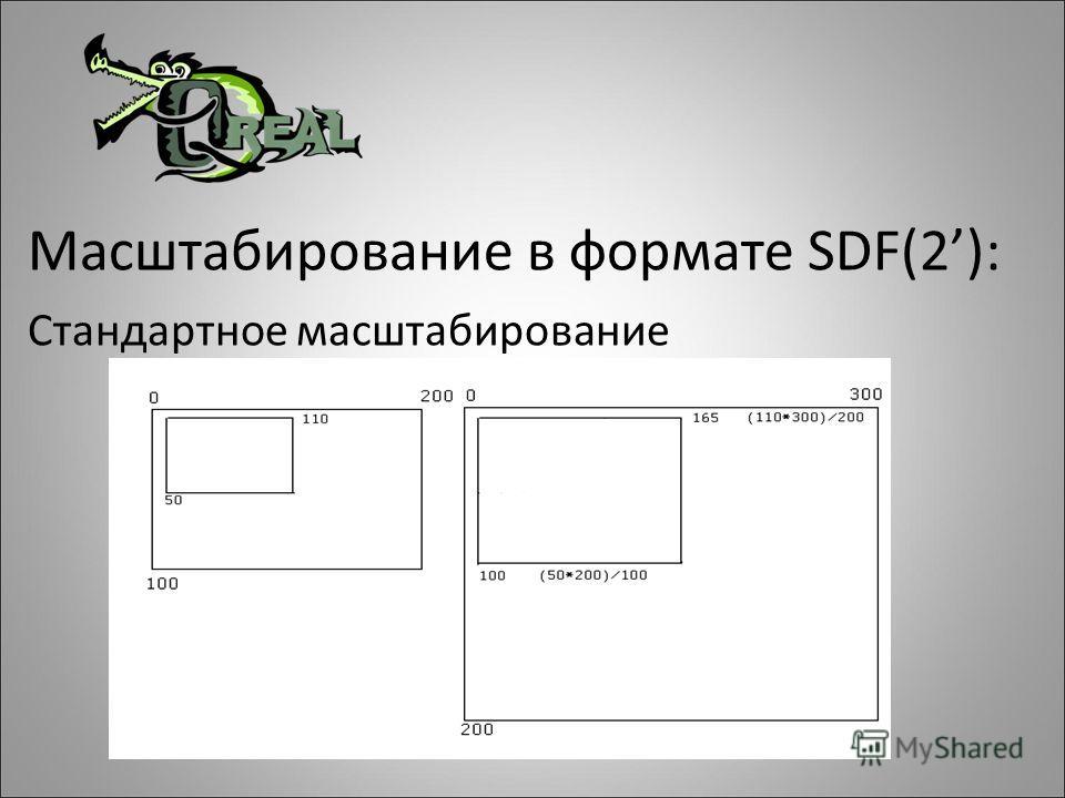 Масштабирование в формате SDF(2): Стандартное масштабирование