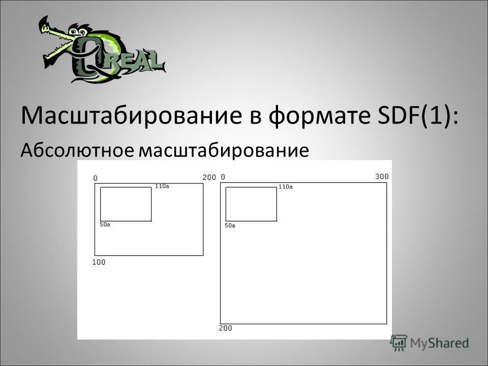 Масштабирование в формате SDF(1): Абсолютное масштабирование