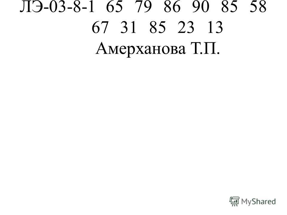 ЛЭ-03-8-1657986908558 6731852313 Амерханова Т.П.