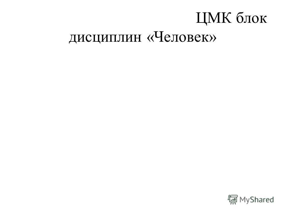 ЦМК блок дисциплин «Человек»