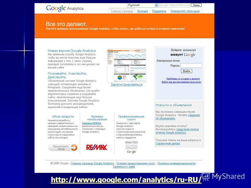 http://www.google.com/analytics/ru-RU/