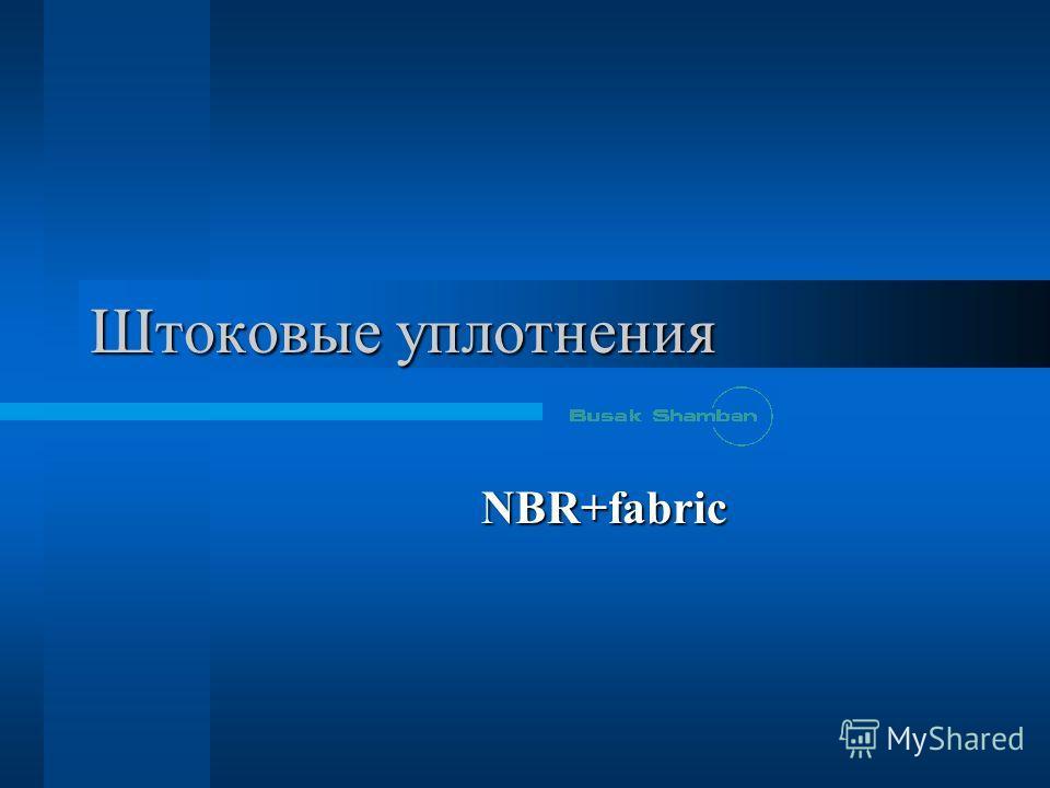 Штоковые уплотнения NBR+fabric