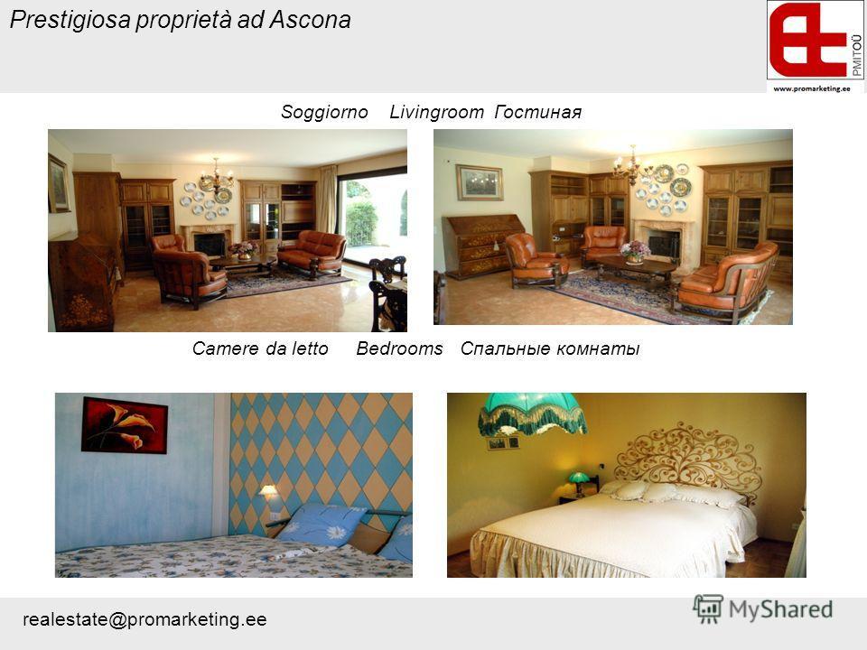 Prestigiosa proprietà ad Ascona Soggiorno Livingroom Гостиная Camere da letto Bedrooms Cпальные комнаты realestate@promarketing.ee