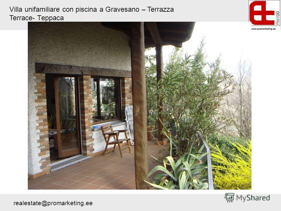 Villa unifamiliare con piscina a Gravesano – Terrazza Terrace- Терраса realestate@promarketing.ee