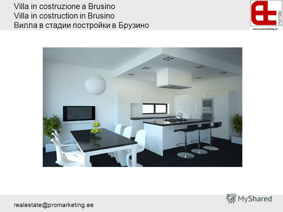 Villa in costruzione a Brusino Villa in costruction in Brusino Вилла в стадии постройки в Брузино realestate@promarketing.ee
