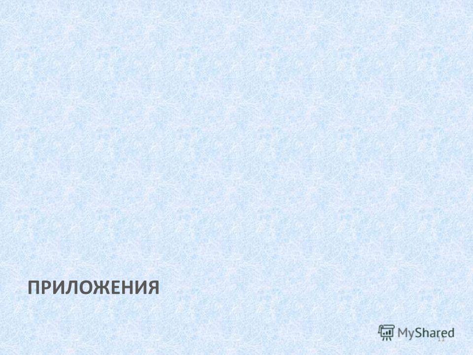 ПРИЛОЖЕНИЯ 11